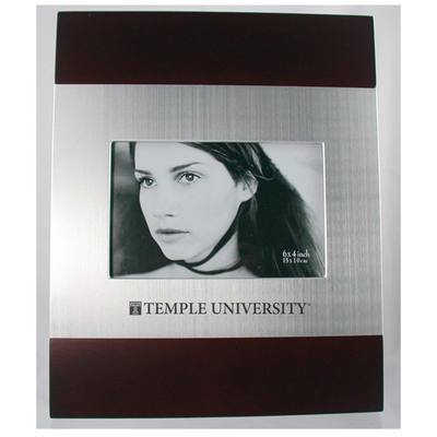 Temple Cherry Wood and Metal Frame