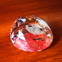 Crystal Slant Top Faceted Paperweight