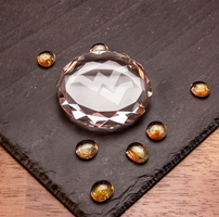 Crystal Optic Faceted Paperweight