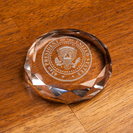 43rd Seal Crystal Paperweight