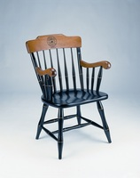 Captains Chair with Black Solid Maple Hardwood, Cherry Finished Arms and Crown (Online Only)