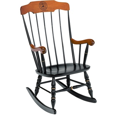Boston Rocker Laser Seal Black Cherry Arms & Crown (Online Only)