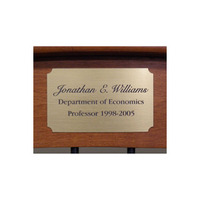 Brass Plate With Personalization