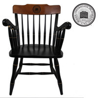 CAPTAINS CHAIR WITH CHERRY CROWN AND BLACK ARMS (ONLINE ONLY)