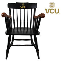 CAPTAINS CHAIR WITH BLACK CROWN AND CHERRY ARMS (ONLINE ONLY)