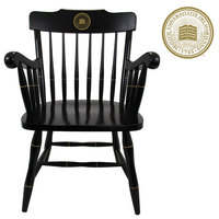 CAPTAINS CHAIR WITH BLACK CROWN AND ARMS (ONLINE ONLY)