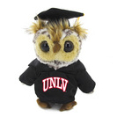 8in Plush Grad Owl in Gown